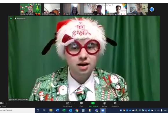 Gerraint on his Zoom Fun Hour in December